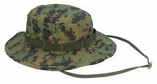 Woodland Digital Camouflage Military RIP STOP Boonie Hat Cap ROTHCO 5827 or FOX