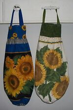 Large Yellow Sunflowers Plastic Grocery Bag Rag Sock Holder Organizer HCF&D