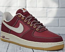 Nike Air Force 1 ® Mens Trainers (( UK Size 7 EUR 42 ) Team Red Leather Textile