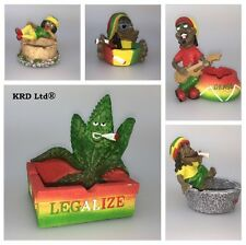 RASTA JAMAICAN Ashtray Resin Grass Bob Marley Cigarette Ashes Reggae Mens Gift