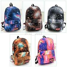 Girl Boy Galaxy Space Travel Rucksack Backpack Canvas Bag Fashion School Bookbag