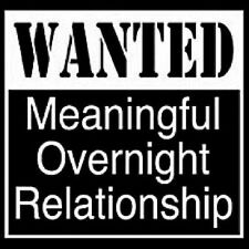 New WANTED MEANINGFUL OVERNIGHT RELATIONSHIP Black T-Shirts Small to 5XL