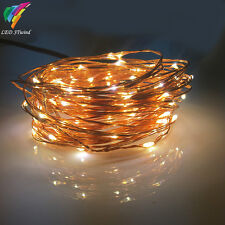 12V 10M100Led Waterproof Tiny Copper Wire Fairy String Lights Lamp for Christmas