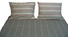 DaDa Bedding Luxe Soft Luxe Striped Fitted Flat Sheets Set & Pillow Cases Shams