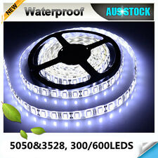 12V Cool White 5M 3528 5050 SMD 300 600 LED Strips Led Strip Lights Waterproof