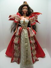 1997 Happy Holidays Barbie doll brunette in red gown