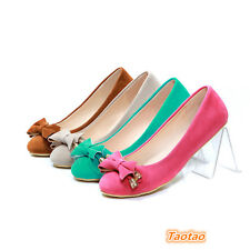 Fashion Women's Flat Heels Shallow PumpsComfort Bowknot Shoes AU ALL Size TD438