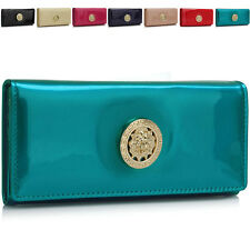 New Trifold Patent Leather Women Purse Designer Ladies Girl Wallet Coin Cards UK