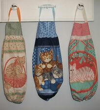 Cats Kittens in Baskets Grocery Plastic Bag Rag Sock Holder Organizer HCF&D