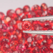 2.6mm Lot 6,10,20,50pcs Round Diamond Cut Calibrated Natural Orange Red SAPPHIRE