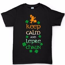 Keep Calm Leprechaun St Patrick Paddys Day Clover Irish Shamrock T shirt T-shirt