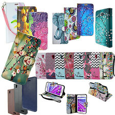 NEW!! PU Leather Wallet Credit Card Stand Case Cover for Various LG Phone Model