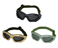 Safety Eye Protection Airsoft CS Game Metal Mesh Mask Shield Goggle Glasses MF