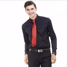 Mens Slim Fit Dress Shirts Long Sleeve Business Casual Shirts 6 Colors 37-48
