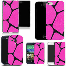 gel rubber case cover for  Mobile phones - pink blocked pattern silicone