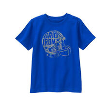 GYMBOREE HOP N ROLL Boys NWT Football Helmet T-Shirt Blue 18-24