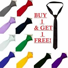 MENS SKINNY TIE slim thin formal necktie neck wedding groom BUY 1 GET 1 FREE 1