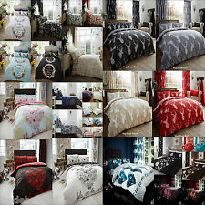4Pc Designer Complete Duvet Cover With Fitted Sheet And Pillow Case Bedding Set