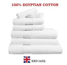 Genuine 100% Egyptian Cotton Face Cloth Guest Hand Towel Bath Towels Sheet WHITE