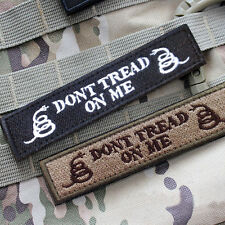 2 PCS DON'T TREAD ON ME TACTICAL MILITARY US ARMY ISAF MORALE SWAT PATCH