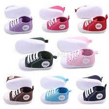 Stylish Infant Baby Boy Girl Canvas Toddler Sneakers Soft Sole Crib Shoes 0-12M