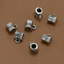 15-200pcs Tibet silver Jewelry DIY parts Connectors Bracelet Bails charm pendant