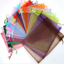 50 Organza Gift Bags Jewellery Christmas Packing Pouches Wedding Party Favour e