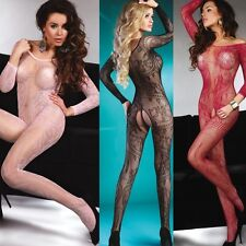Sexy Fishnet Crothless Bodystocking Livco Corsetti Lingerie Abra Regular Plus