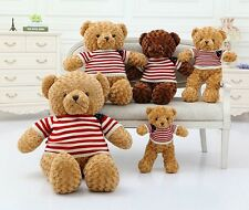 Baby Teddy bear doll clothes brown Plush toy PP Cotton Girl friend Birthday Gift
