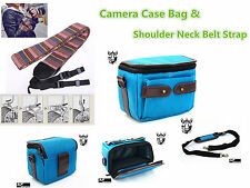 CF38a Outdoor Travel Carrying Camera Case Shoulder Bag & Vintage Camera Strap