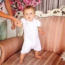 Baby Boy Christening Romper White Infant Cotton Bodysuit Baptism Outfit Unisex