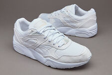 Shoes Puma R698 Core Leather 360592 04 Man Sneakers White Vaporous Gray