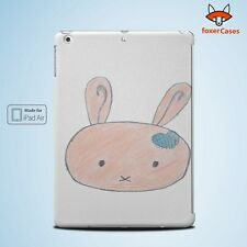 Cute Bunny Sketch Art Drawing Case Cover for iPad