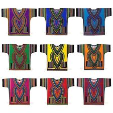 Dashiki Mens Shirt African Top Hippie Vintage Boho Tribal Women's Dress One Size