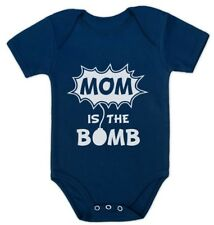 Mom is The Bomb - Cute Mother's Day Gift Funny Bodysuit Baby Bodysuit Grow Vest