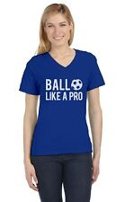 Soccer - Ball Like a Pro Gift for Soccer Lovers / Fans V-Neck Women T-Shirt Cool