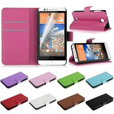 Leather Flip Wallet Cover Case Stander Protector For HTC Desire 510 & FREE FILM