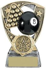 Pool Award With Black Ball Antique Gold Various Sizes Available , Own Centrepiec