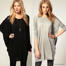 New Style Fashion Casual T-Shirt Batwing Sleeve Long T-Shirt Loose Blouse