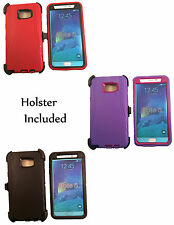 Hybrid Case Cover for Samsung Galaxy Note 5 Defender works w/ otterbox Holster