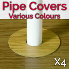 Self Adhesive x4 Pipe Covers Radiator Rings For Laminate Floors VARIOUS COLOURS!