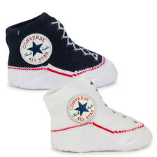 Baby Converse Chuck Taylor White and Black Knit Sock Booties