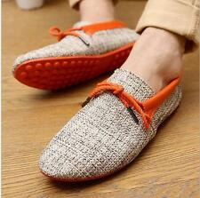 Men's Slip Ons Loafers Driving Moccasins Breathable Boat Shoes England style US#