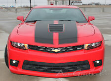Factory Rally Vinyl Graphic Hood Decals Pro Racing Stripes 3M for 2014 SS Camaro