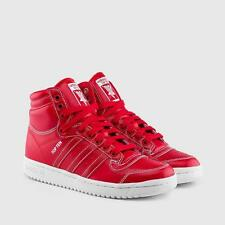 ADIDAS ORIGINALS TOP TEN HI J JUNIORS F37291 SCARLET RED LEATHER/WHITE STITCHING