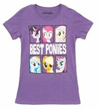 Juniors My Little Pony Best Ponies Character Frames Grape Purple T-shirt Tee