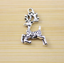 20/40 /100 pcs Retro style Tibet silver Lovely deer charms Pendants 23x15 mm
