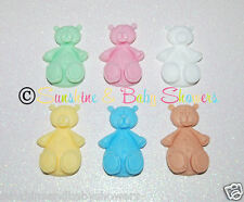 5 TEDDY BEAR Soaps SHABBY CHIC Favours In Baby Powder - Personalised or not