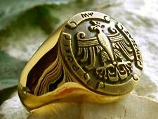 POLISH EAGLE ADLER RING BAGUE POLAND POLOGNE POLSKA ORZEL FLAG GODLO PIN ID D44G