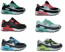 INFANTS GIRL BOY KIDS TRAINERS ABSORBING RUNNING GYM SPORTS LACE UP SHOES SIZE